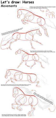 THIS IS SO HELPFUL! i could never draw horses before. Horse movements - Tutorial by TinyGlitch More