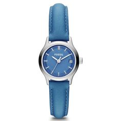 Fossil Women's Archival Mini Blue Dial Blue Leather Strap Watch - - Re-list March 2014 - Sold - March 2014 - Australia 1. Tag, Selling On Ebay, Quartz Watch, My Ebay, Fossil, Rose Gold, Watches, Band, Amazon