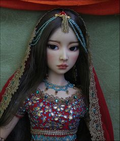 Lissa as Indian bride, BJD doll
