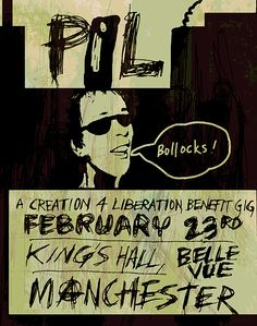 Public Image first gig 1979 by Enki Art Classic Rock And Roll, Rock N Roll, Punk Poster, Music Flyer, Post Punk, Pistols, Punk Rock, Flyers, Crime