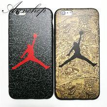 Luxus Marke Jordan Dunk fly air mann fall für iPhone 6 S 6 Plus 7 7 Plus 5 s SE Soft cover Für iphone 6 6 s 5 Telefon Abdeckungs-fälle(China (Mainland))