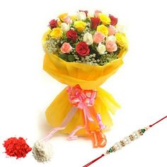 Order or Send Rakhi gift hampers including Rakhi flowers, Rakhi Cakes and toys to your brother/sister lived in Kanpur. Here at www.kanpurflorist.co.in you can choose Raksha Bandhan special hampers including flowers, chocolates, sweets, cakes, toys and lots more. Contact us: +91-8288024441, 8288024442