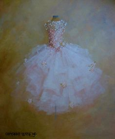 ballet Tutu painting The Dance of the Flowers original by 4WitsEnd, $300.00
