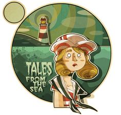 ILLUSTRATION - TALES from the SEA by Elvira Lanzafame, via Behance