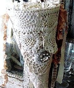 Victorian Style Lace Christmas Ornaments