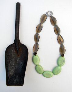 lemon jasper PATRICE necklace by johnnymeg on Etsy, $72.00