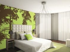 Trees 4 Wallpaper  Tree wallpaper in lime green and chocolate brown. Scottish pine trees, photo taken by Rob Haigh. Digital photographic wallpaper mural. Printed any size to suit your space. All wallpaper comes in maximum 24in (60cm) wide rolls, we divide your image width up to give you as few sheets as possible but each sheet of wallpaper will not exceed 24inch.