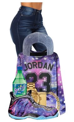 """My Swag go Outta Space!!"" by pinkswagg15 ❤ liked on Polyvore featuring Gogo Philip, Goldgenie, Versus and NIKE"