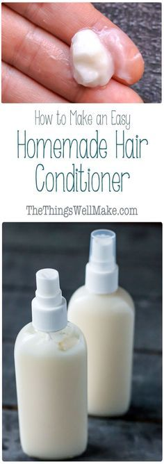 Take control of the ingredients that go into your hair products by making them at home. This easy, DIY hair conditioner uses natural ingredients to leave your hair feeling soft and tangle free, and is light enough to use as a leave-in conditioner too.
