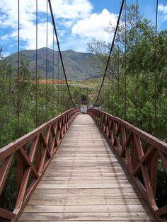 Bridge over Higueras river, Kotosh, Huanuco, Peru