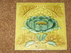 Art Nouveau Majolica tile (1900)