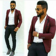 This burgundy blazer ...well suited