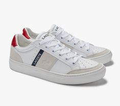 Concave, Lacoste, Baskets, Sport Mode, Cuir Nappa, Sneakers, Traditional, Tennis