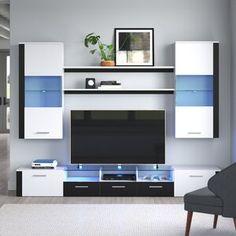 Latitude Run® Connie-Agnes TV Stand | Wayfair Living Room Storage, Storage Spaces, 65 Tv Stand, Tv Stands, Tv Stand Wayfair, Modern Entertainment Center, Modern Tv Wall Units, Tv Unit Design, Wooden Shelves