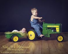Now It's Personal Photography - siblings with tractor