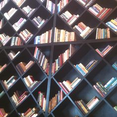 Amazing bookshelf (whole wall) at Brown TLV