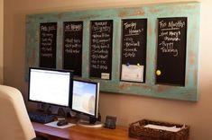 DIY: Old Door Turned Magnetic Chalkboard - clever Old Door Projects, Home Projects, Old Door Crafts, Repurposed Furniture, Diy Furniture, Repurposed Doors, Recycled Door, Repurposed Items, Rustic Furniture