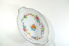 German Reticulated Floral Chintz Oval Bowl by 4EnvisioningVintage, $39.00