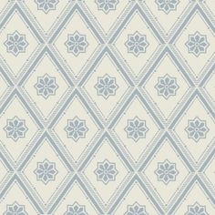 TAPET GAMMELSVENSK NYANS SOLTORP BLÅ Swedish Wallpaper, Old Wallpaper, Farmhouse Addition, Farmhouse Style, Summer Cabins, Blue Wallpapers, Interior Walls, Textile Patterns, Diy Projects To Try