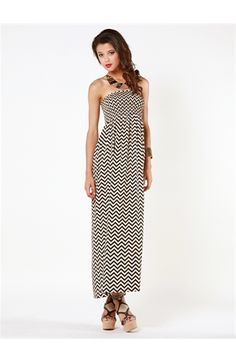 Zig Zag Smocked Maxi - I'm liking this!