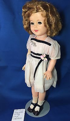 VINTAGE-Ideal-Shirley-Temple-Doll-17-Pink-Dress-Flirty-Eyes-Vinyl-ST-17-1-Rare