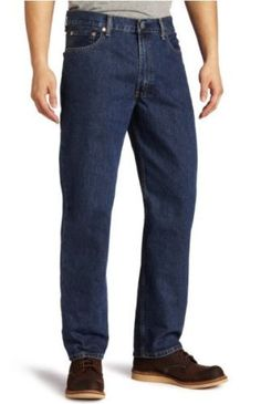 Levi's 550 Men's Big & Tall Relaxed Fit 100% Cotton Jeans, Size 48 x 30