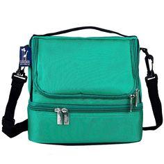 Kids Wildkin Zippered Double Decker Lunch Bag, Green