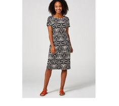 Ronni Nicole Short Sleeve Puff Print Dress - 179359 Qvc Uk, Ronni Nicole, Short Sleeve Dresses, Dresses With Sleeves, Just Shop, Dresses For Work, Summer Dresses, Shopping, Fashion