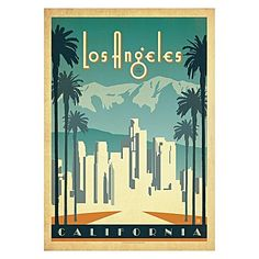 Evoke sunny summer visions of iconic USA with the Los Angeles Sunset Canvas Print from Americanflat.