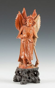 Chinese Carved Soapstone Court Figure