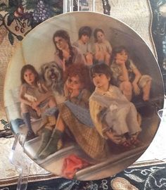 Set of 8 Annie The Movie Collector Plates Knowles 1980's with wall plate hangers