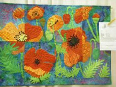 Poppy Quilt by Blue Bird Sews, via Flickr