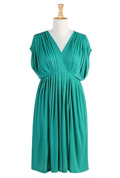 Grecian pleat dress @Anna Corrales Desmond this dress makes me think of your Choos. :)
