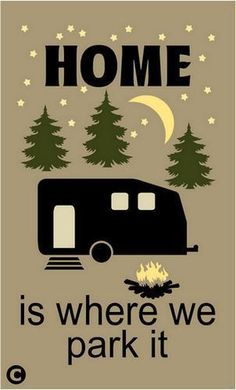 Home is where you park it rv picture frame.