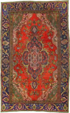 6 4 x 10 0 Red Tabriz Persian Rugs