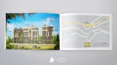 Bhersaf HILLS #Brochure Inside Layout + #Map Brochure Design, Branding, Layout, Map, Page Layout, Maps, Brand Identity, Identity Branding, Peta