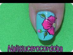 Como hacer flores en las uñas - Como Pintar Flores - Uñas Con Flores |Nailslucerocordoba - YouTube Nail Art Videos, Pedicure, Tattoos, Nails, Simple, Color, Youtube, Nail Art Flowers, Nail Art