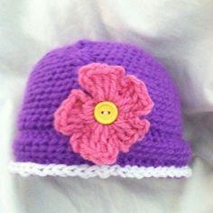 Crochet hat for a toddler