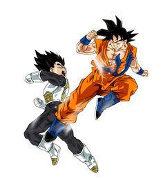 Goku VS Vegeta by BardockSonic on @DeviantArt