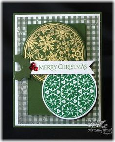 Stamps Our Daily Bread Designs Christmas Pattern Ornaments, ODBD Custom Circle Oraments Die, ODBD Christmas Paper Collection 2013
