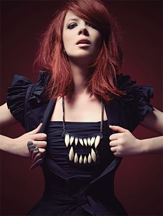 Shirley Manson wearing MFP's teeth Necklace