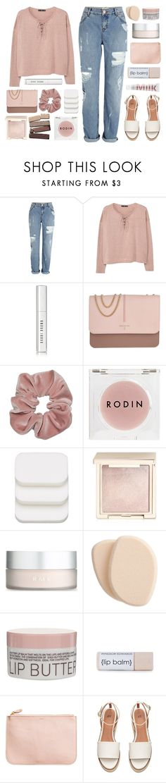 """""""Light Pink"""" by amazing-abby ❤ liked on Polyvore featuring River Island, MANGO, Bobbi Brown Cosmetics, Patrizia Pepe, Rodin Olio Lusso, COVERGIRL, Jouer, RMK, Clé de Peau Beauté and Korres"""