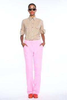 khaki + pink!