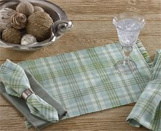 Harbor Mist Placemat by Park Designs. For a Park Designs retailer near you visit our website at www.parkdesigns.net #parkdesigns #summerdecor #coastaldecor #beachdecor #harbor