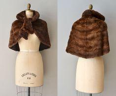 Edwardian fur capelet / vintage 1910s sheared fur by DearGolden, $138.00