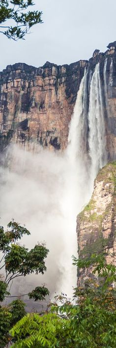 Angel Falls is the world's highest uninterrupted waterfall. Located in Venezuela. TOP 19 Places to Visit Before You Die  - YouMustBeHere.com