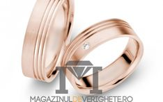 Verighete aur galben de 7.5mm Mdv minze pink #verighete #verighete7mm #verigheteaur #verigheteaurgalben #magazinuldeverighete Aur, Bangles, Bracelets, Pink, Wedding, Jewelry, Fashion, Diamond, Valentines Day Weddings