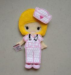 Felt Doll Nurse Scrubs