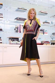"""Tribal beat. Wearing a tribal-inspired Runway dress.""  -Lubov Azria  #BCBG #LubovAzria #LOD"
