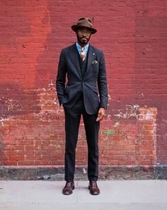 Suit up. More Beards, New York Cities, Street Style, Brick, Men Style, Cities Street, Men Fashion, Suits, Gentleman Style Suits  men  mens fashion : http://the-suit-man.tumblr.com/ Suit up. Beard hat fashion men tumblr man style follow the red brick road Three-piece suit and a hat? Wonderful! New York City Street Style by Ben Ferrari: Style: GQ New York City Street Style by Ben Ferrari | gentleman style #Cars #Luxury #Wealth